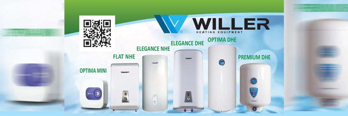 Водонагреватели Willer модельный ряд