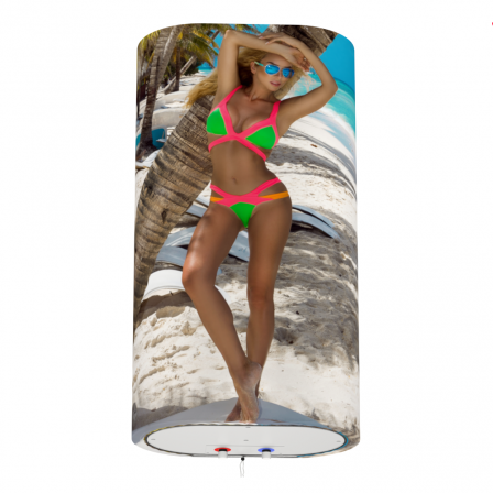 Декоративний чохол для бойлера WILLER EV50DR Grand (Дівчина на пляжі / 927х902мм / 37)